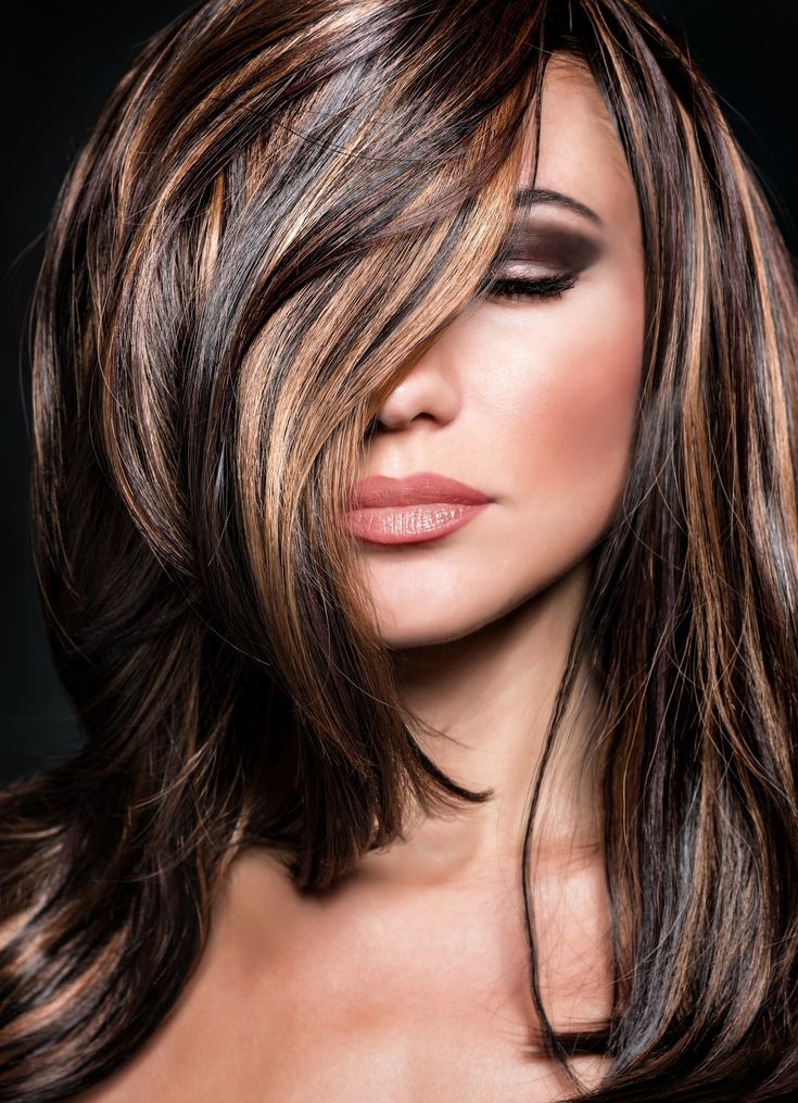 окрашивание темных волос фото