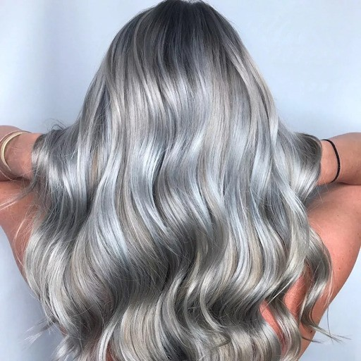 Серебристый блонд фото