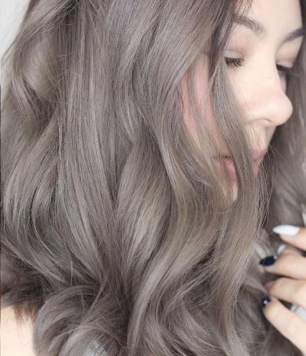 Серый и коричневый пепельный блонд фото