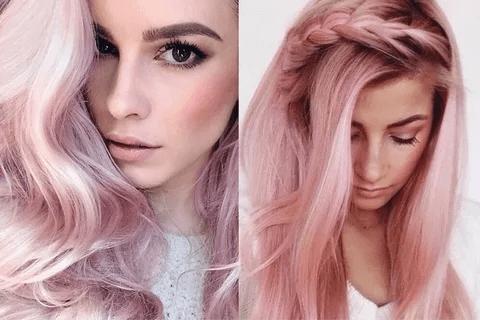 Блонд с розовым, сиреневым или голубым оттенками фото