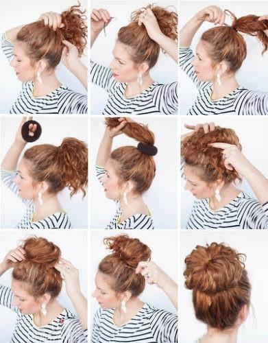 пучок из волнистых волос